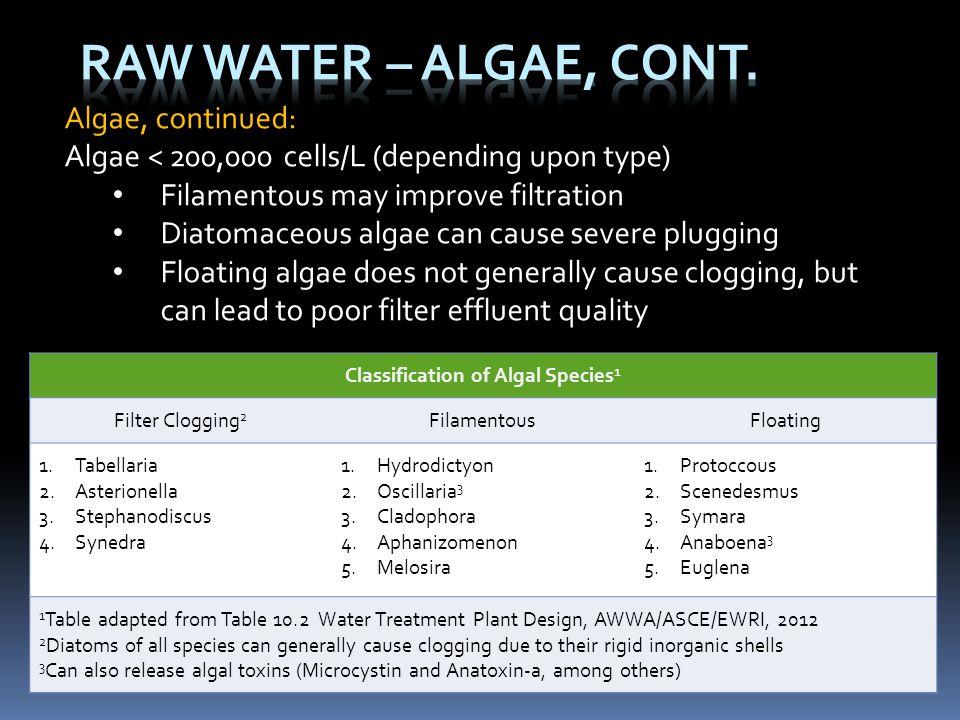Classification of Algal Species1