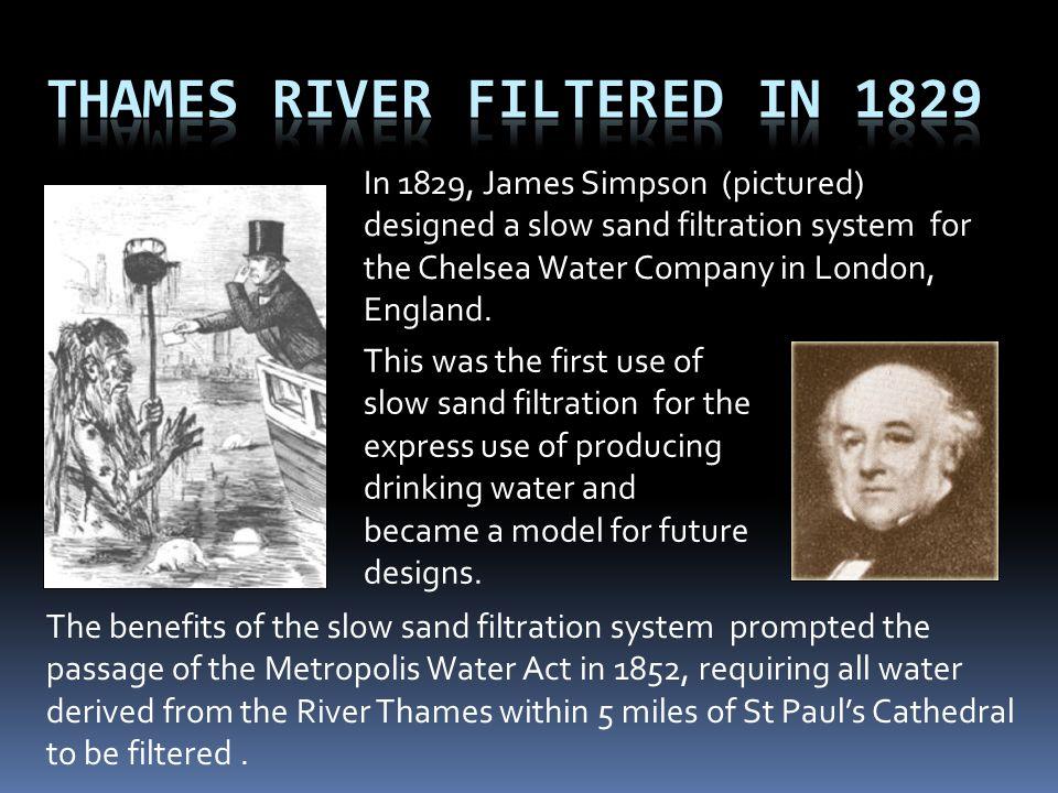 Thames River Filtered in 1829