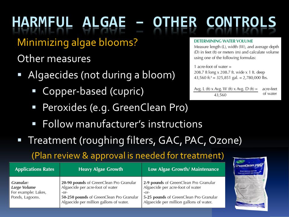 Harmful Algae – Other controls
