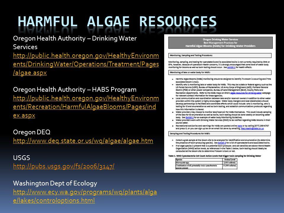 Harmful Algae Resources