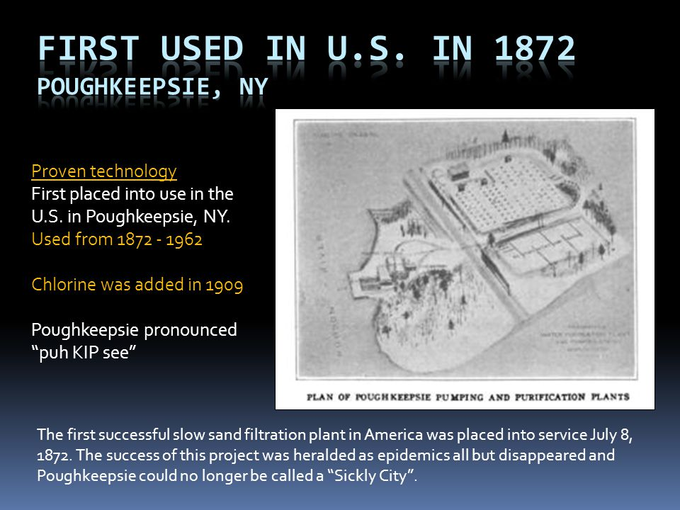 First Used in U.S. in 1872 Poughkeepsie, NY Proven technology