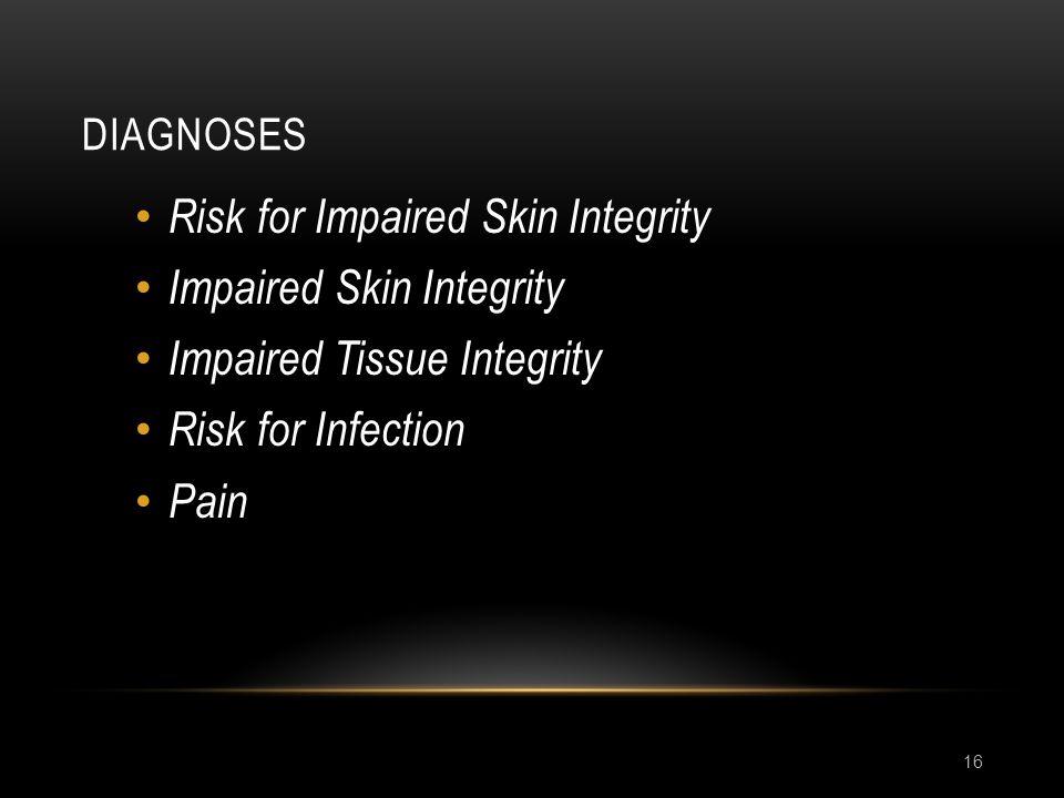 Risk for Impaired Skin Integrity Impaired Skin Integrity