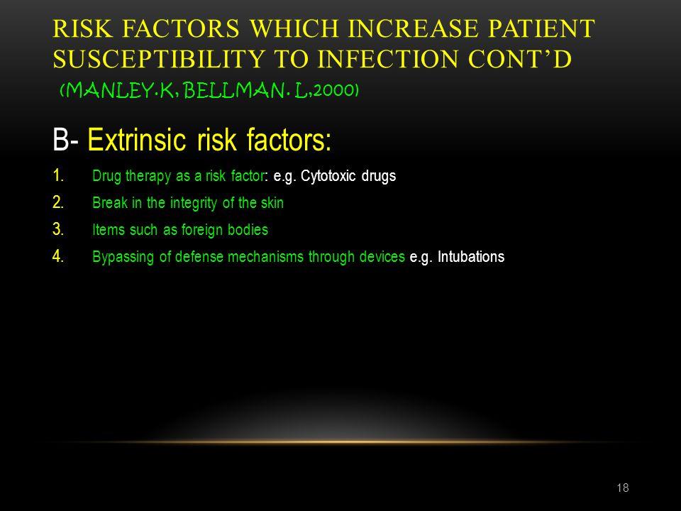 B- Extrinsic risk factors: