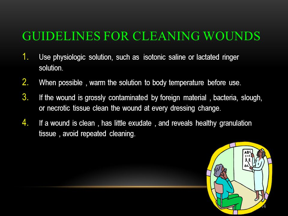 Guidelines for cleaning wounds