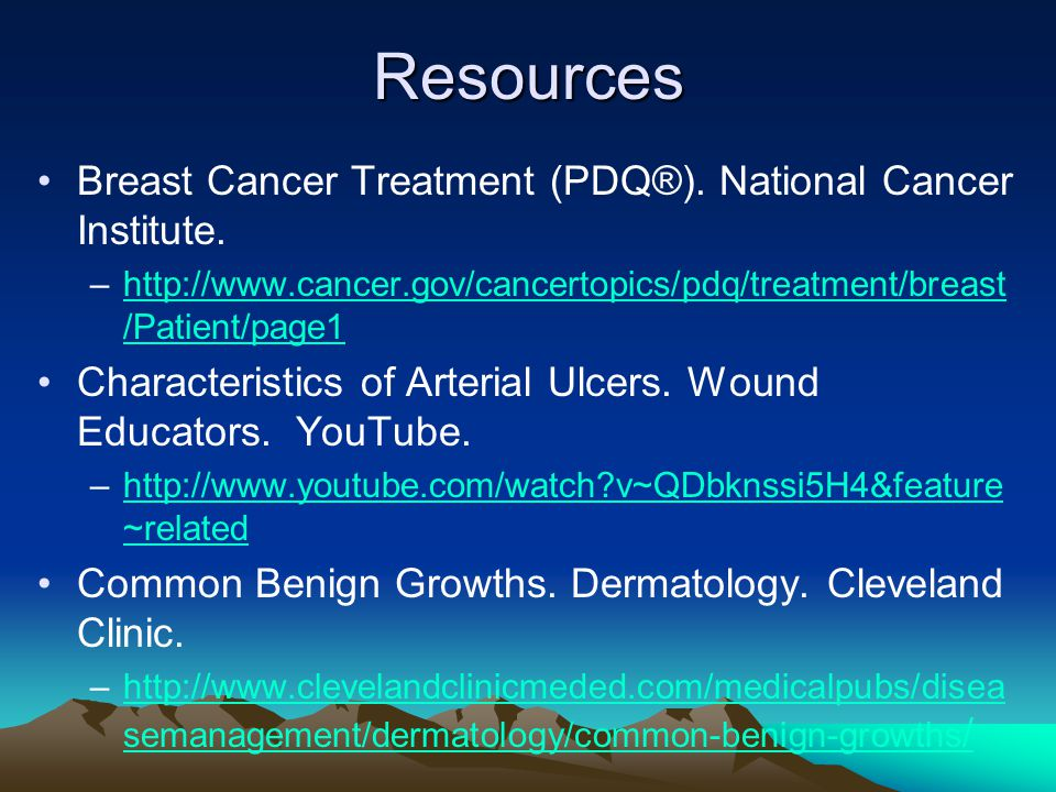 Resources Breast Cancer Treatment (PDQ®). National Cancer Institute.