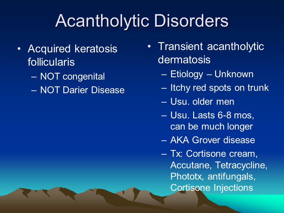 Acantholytic Disorders