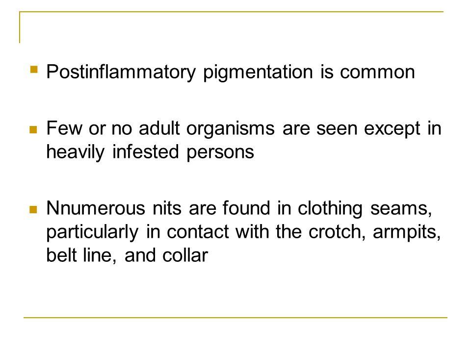 Postinflammatory pigmentation is common