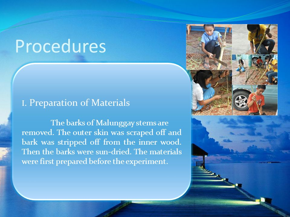 Procedures I. Preparation of Materials