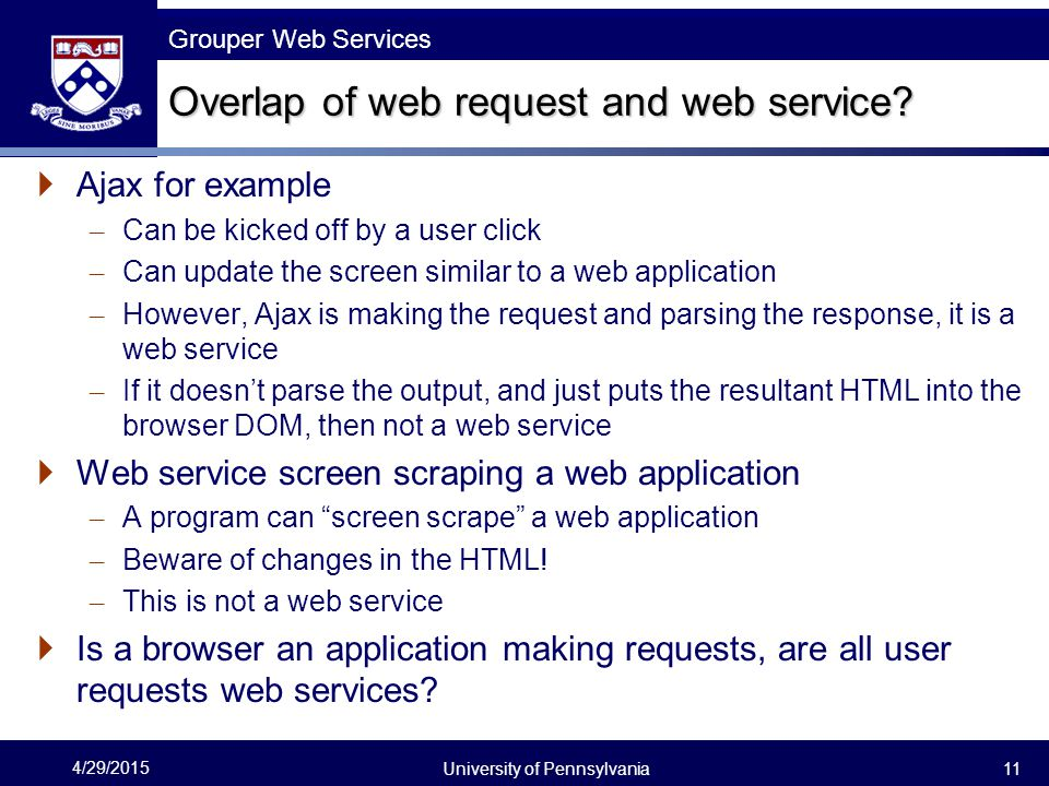Overlap of web request and web service