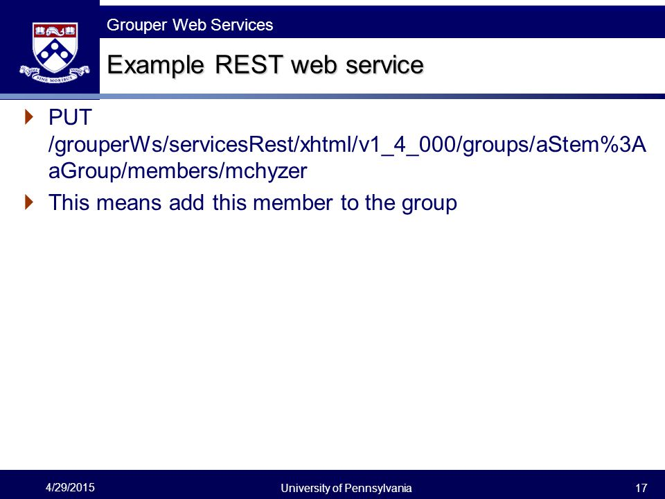 Example REST web service