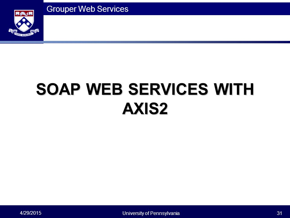 SOAP web services with Axis2
