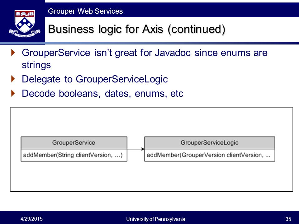 Business logic for Axis (continued)