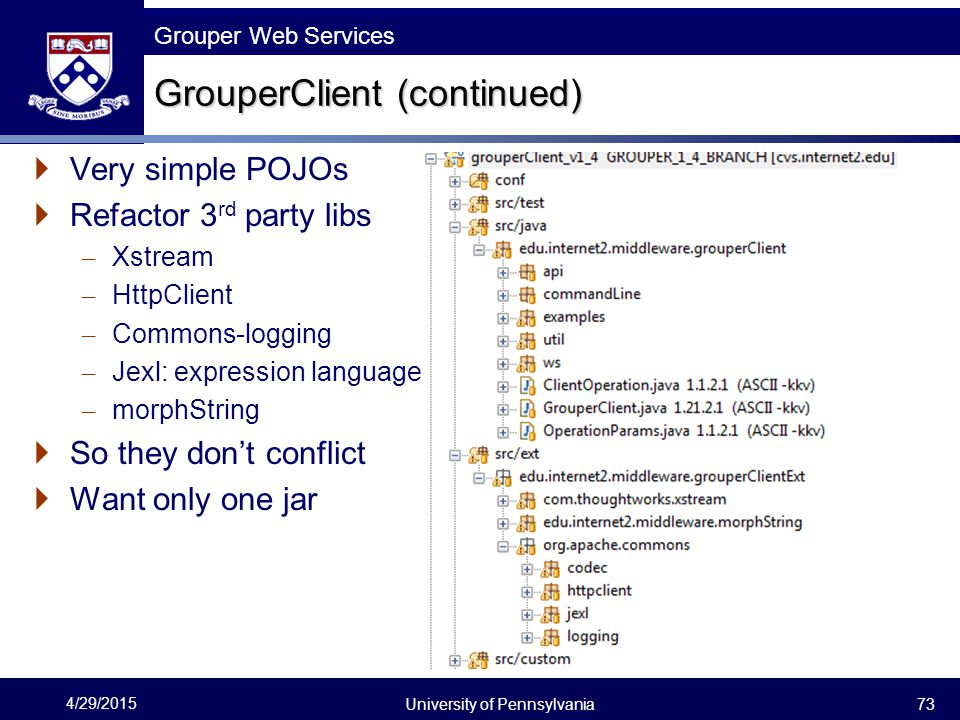GrouperClient (continued)
