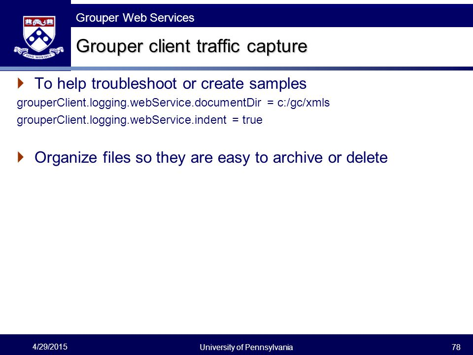 Grouper client traffic capture