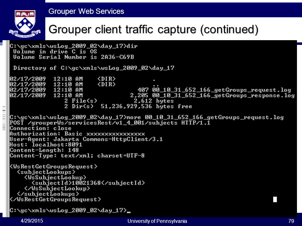 Grouper client traffic capture (continued)