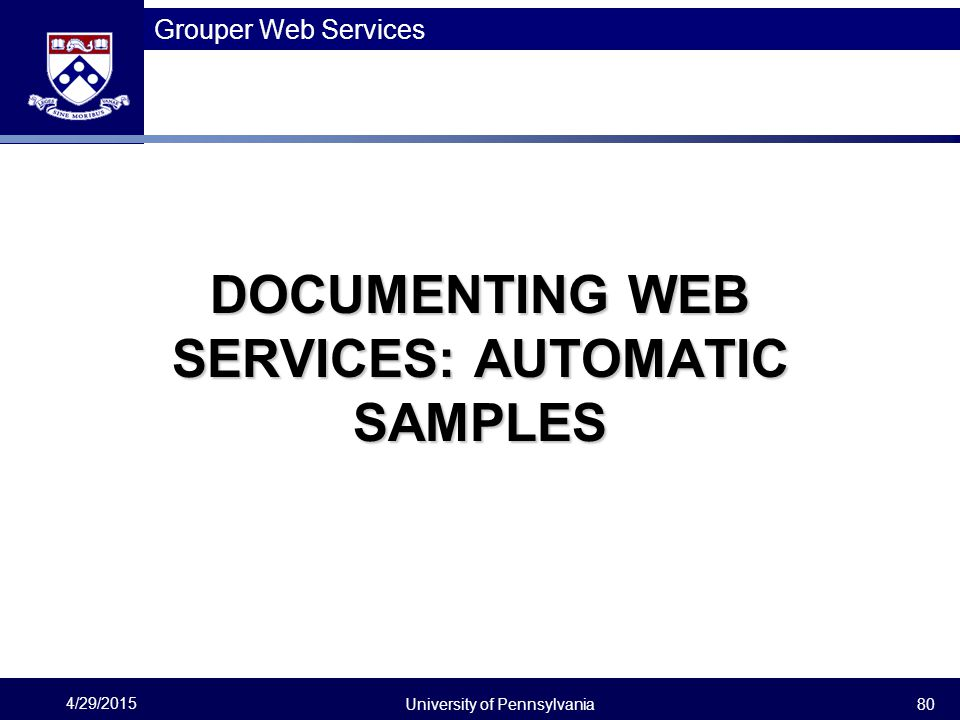 DOCUMENTING WEB SERVICES: AUTOMATIC SAMPLES
