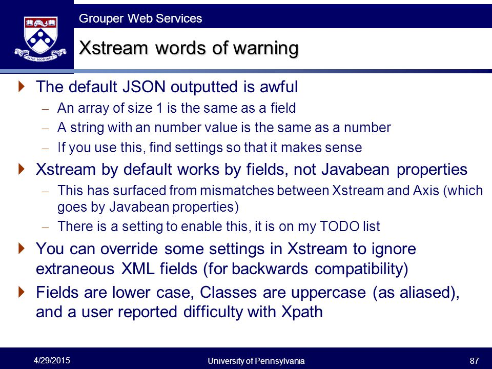 Xstream words of warning