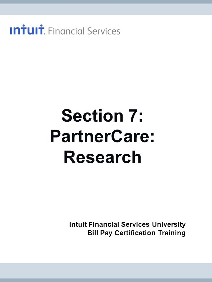 Section 7: PartnerCare: Research
