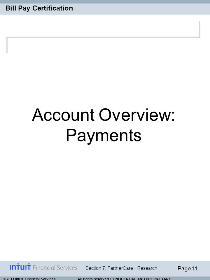 Account Overview: Payments