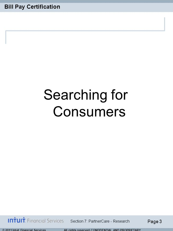 Searching for Consumers