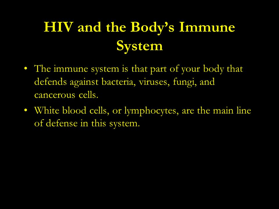 HIV and the Body's Immune System