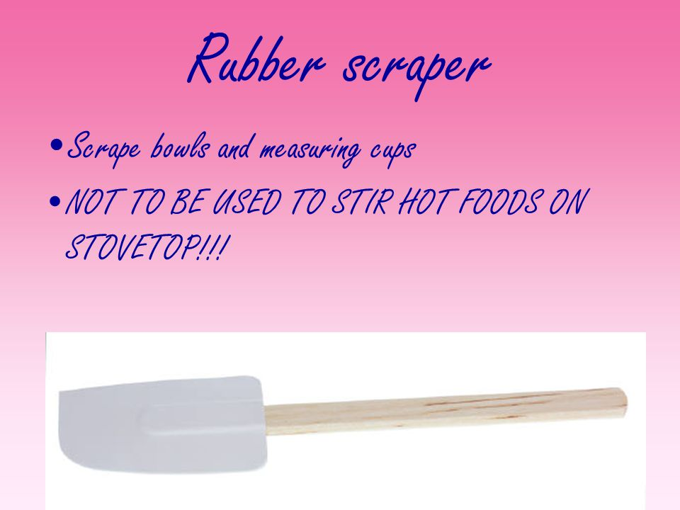 Rubber scraper Scrape bowls and measuring cups