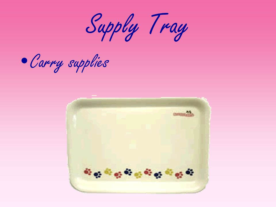 Supply Tray Carry supplies