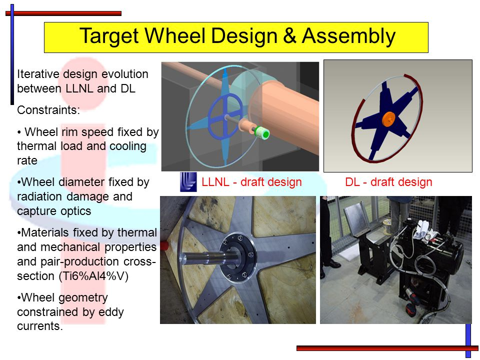 Target Wheel Design & Assembly