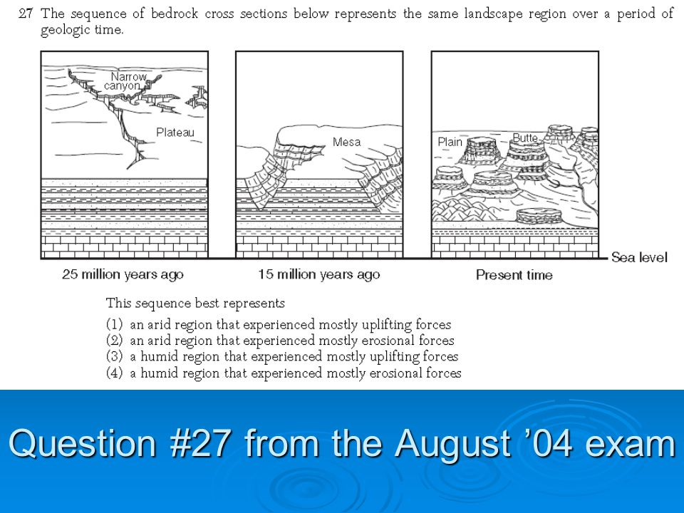 Question #27 from the August '04 exam