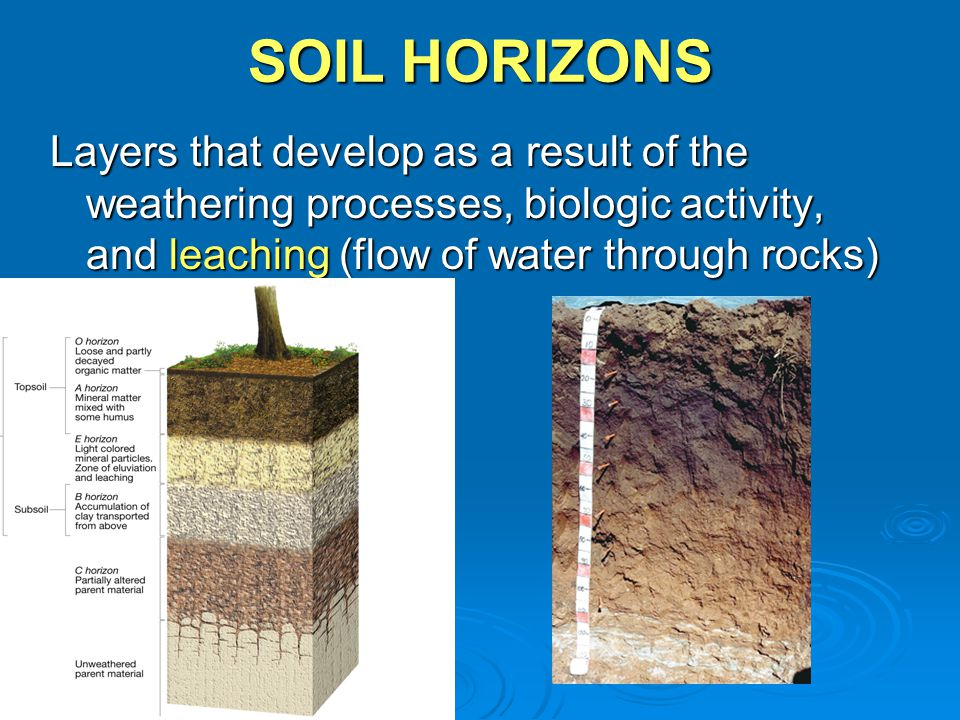 Weathering definition the physical and chemical processes for Why the soil forms layers in water
