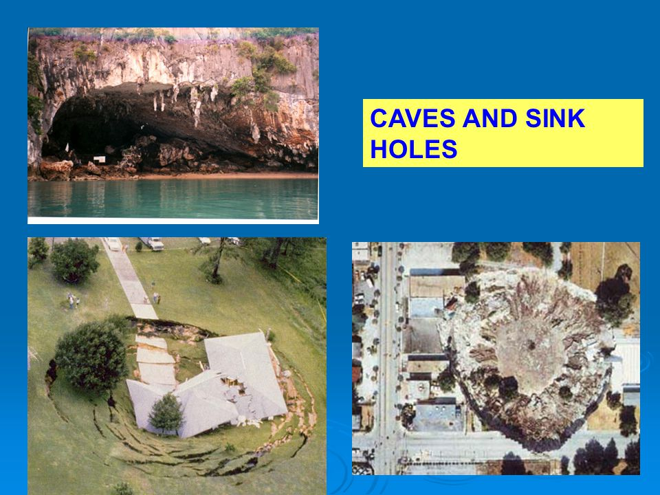 CAVES AND SINK HOLES
