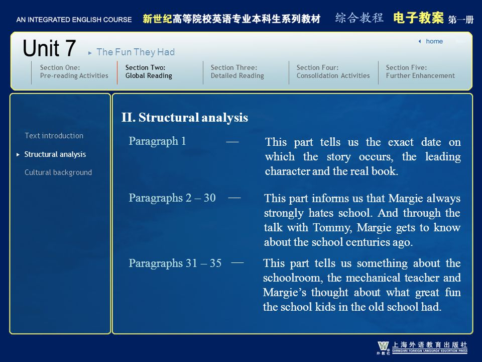 2-2 II. Structural analysis Paragraph 1 —