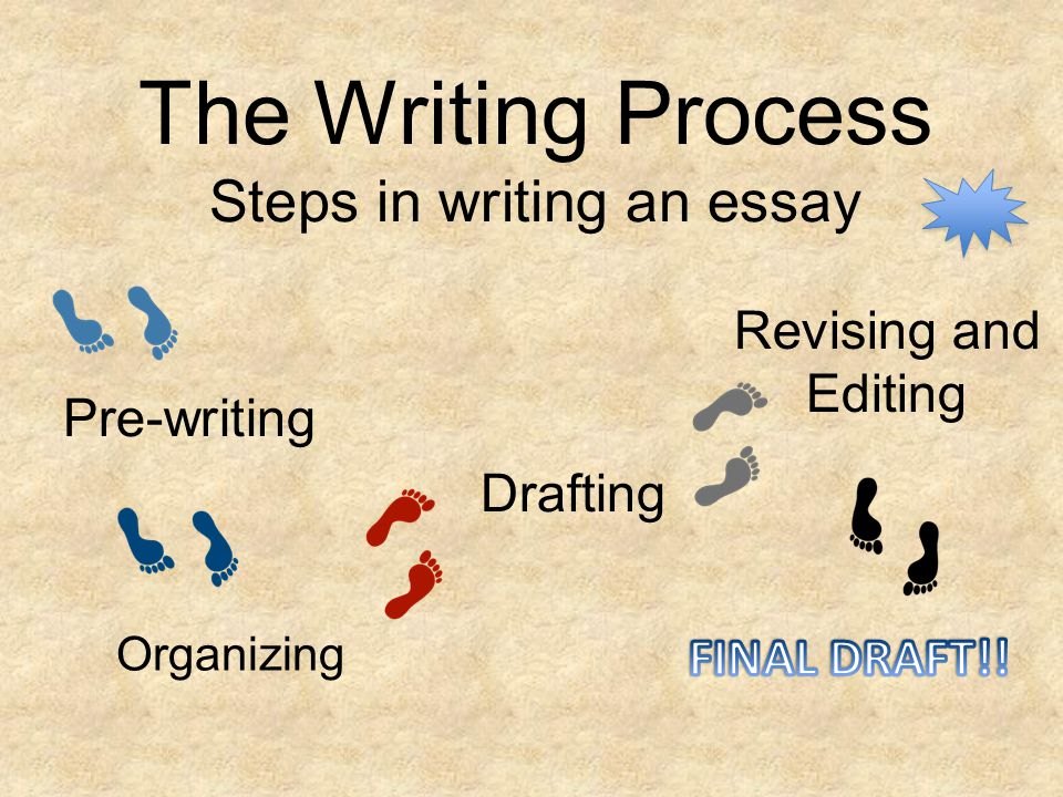 the writing process steps in writing an essay ppt  the writing process steps in writing an essay