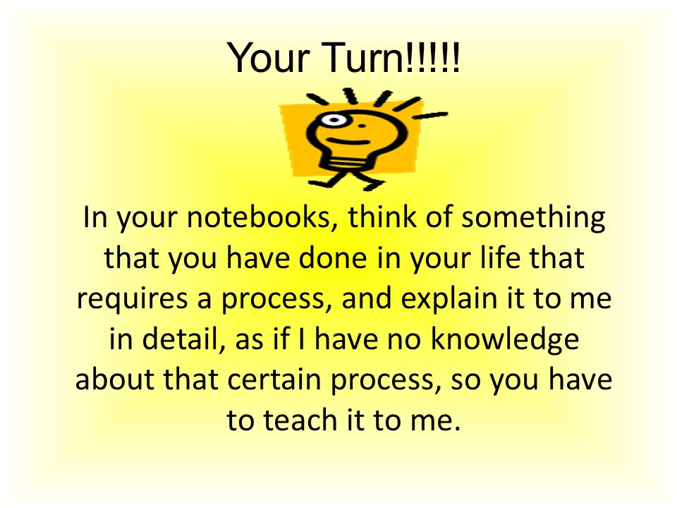 Your Turn!!!!!