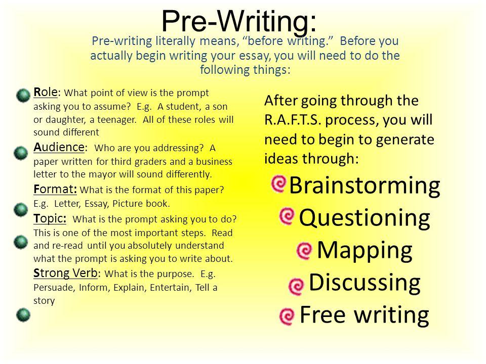 Prewritten essays