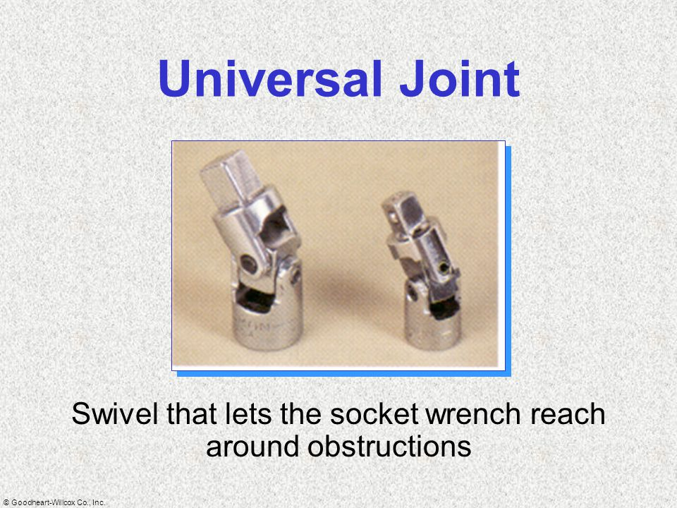 Swivel that lets the socket wrench reach around obstructions