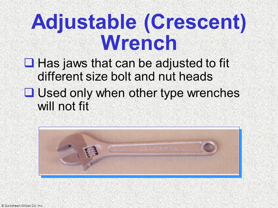 Adjustable (Crescent) Wrench