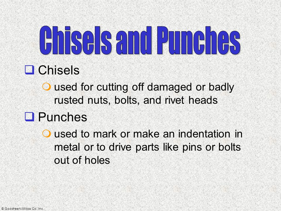 Chisels and Punches Chisels Punches