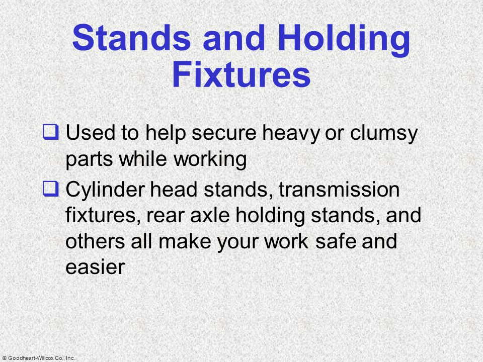 Stands and Holding Fixtures