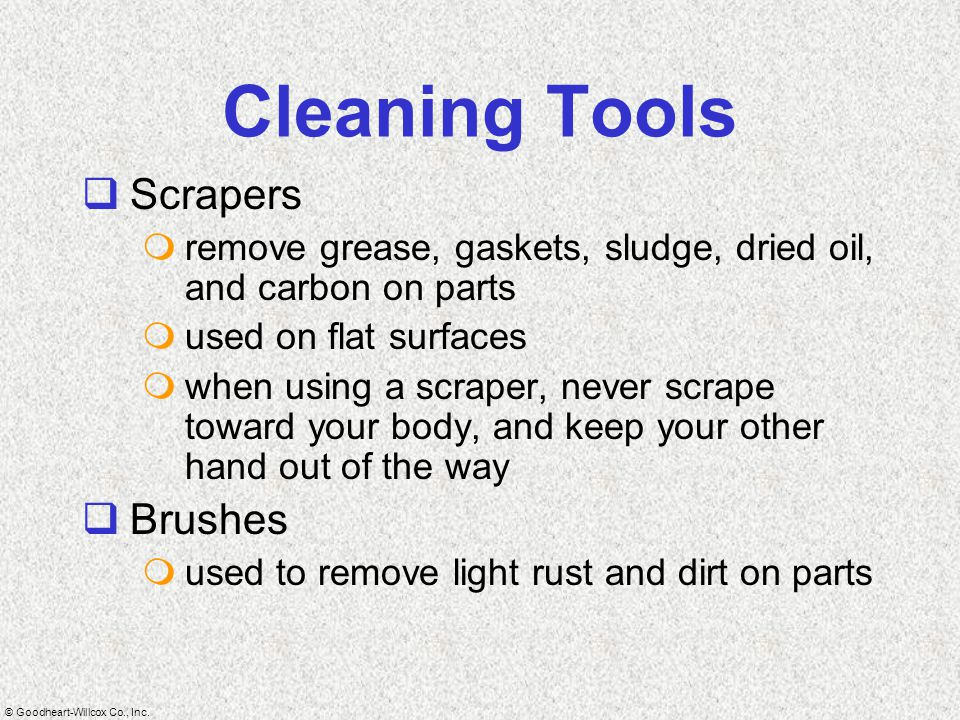 Cleaning Tools Scrapers Brushes