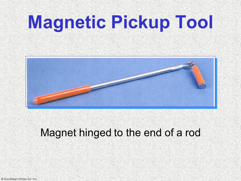 Magnet hinged to the end of a rod