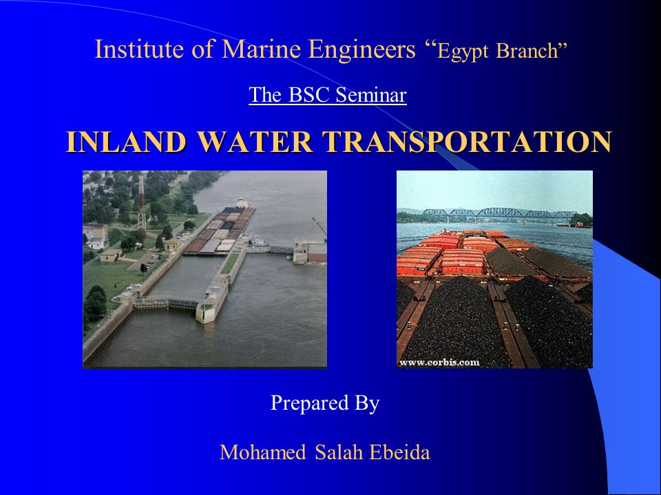INLAND WATER TRANSPORTATION