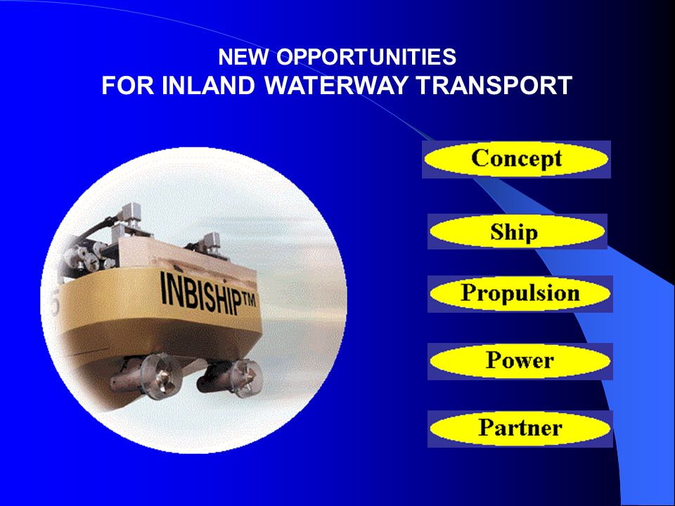 NEW OPPORTUNITIES FOR INLAND WATERWAY TRANSPORT