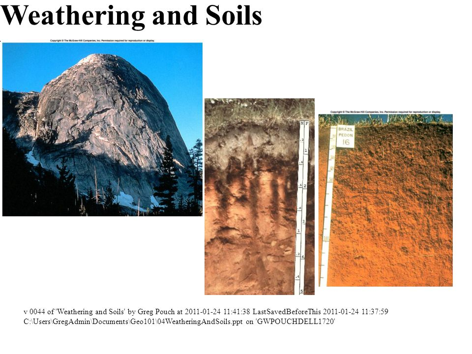 Weathering and Soils v 0044 of Weathering and Soils by Greg Pouch at 2011-01-24 11:41:38 LastSavedBeforeThis 2011-01-24 11:37:59.