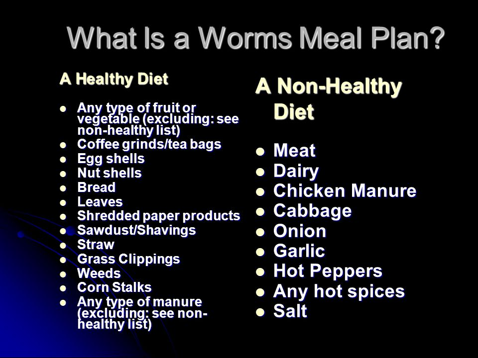 What Is a Worms Meal Plan