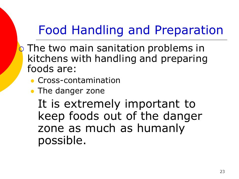 Food Handling and Preparation