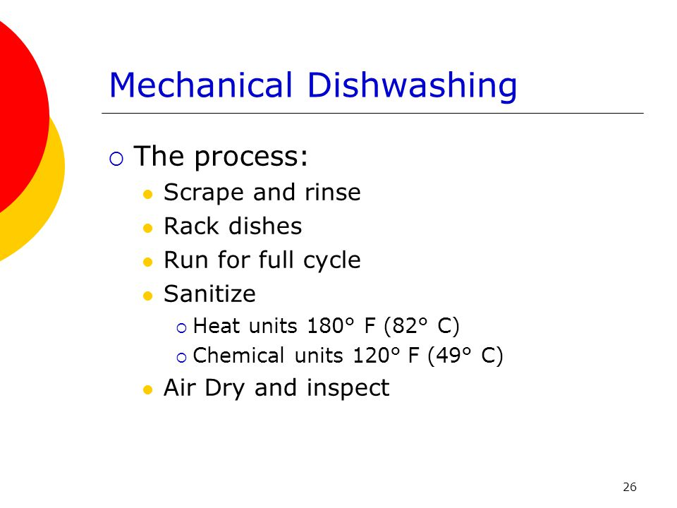 Mechanical Dishwashing