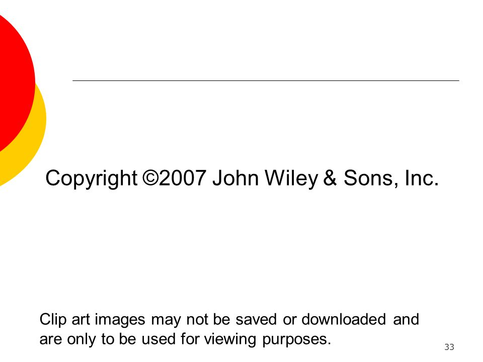 Copyright ©2007 John Wiley & Sons, Inc.