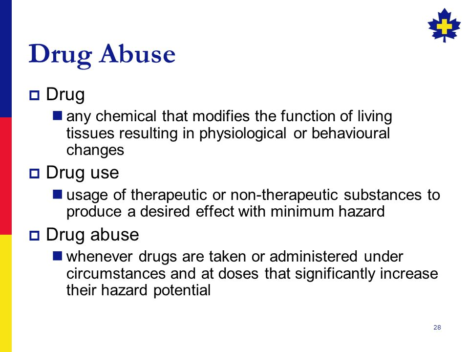 Drug Abuse Drug Drug use Drug abuse
