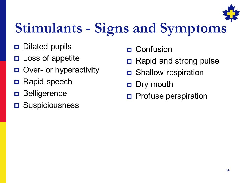 Stimulants - Signs and Symptoms